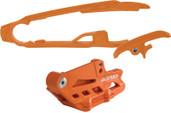 Acerbis Chain Guide/slider Kit Orange Ktm