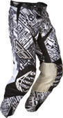 Fly Evolution Race Pant Black/White Sz 30 365-13030