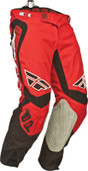 Fly Evolution Clean Pant Red/White/Black Sz 28s 367-13228S