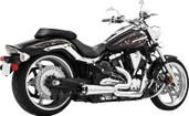 Freedom Exhaust 2 Into 1 Chrome/Black Raider MY00133