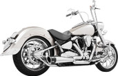 Freedom Exhaust 2 Into 1 Chrome/Black Road Star 1600/1700 MY00142