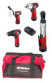 acdelco full workshop kit ratchet wrench impact driver polisher drill 12 volts
