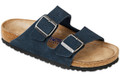 birkenstock arizona denim suede soft footbed