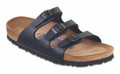 birkenstock florida black birkibuc soft footbed