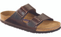 birkenstock arizona amlfi brown soft footbed