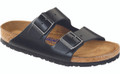 birkenstock arizona amalfi black soft footbed