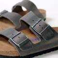 birkenstock arizona iron oiled leather soft footbed