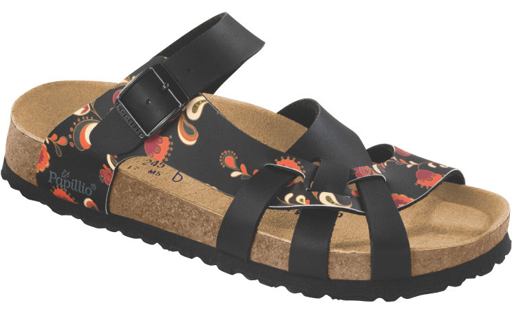 birkenstock papillio pisa black soft footbed