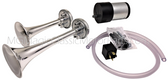 Horn, Dual Air, All Chrome, MG TD Replica