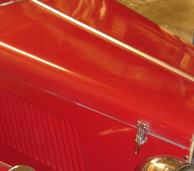 Red MG Hood - MG Magic , Classic Motor Parts