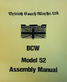 Assembly Manual, Model 52 by British Coach Works (VW)