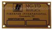 "Badge, Identification Plaque ""FiberFab"" MG-TD"