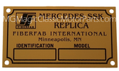 "Badge, Identification Plaque ""FiberFab"" Mercedes SSK"