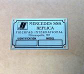 "Badge, Identification Plaque ""FiberFab"" Mercedes SSK"