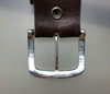 """""""The Explorer"""" Buckle  for 1.5 inch (38 mm) in Sterling Silver with Hammered Texture back view"""
