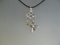 hcbp- Honey Comb with Bee and Citrine Dangle