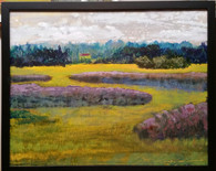 Fiddlers Ridge Marsh  acrylic 16 x 20 on wood panel