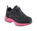 ESD, Women's BLACK & PINK Athletic Cross Trainer, STEEL TOE
