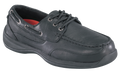 ESD, Women's BLACK BOAT SHOE, STEEL TOE