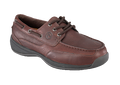 ESD, Men's Brown Boat Shoe, Steel Toe