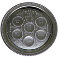 """Silver Plated Seder Plate - 14"""" (P-P52221)"""