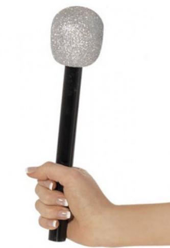 Glitter Silver Microphone