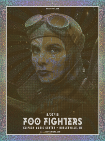 """FOO FIGHTERS - INDIANA AP FOIL"""