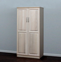 Raised Panel Wardrobe, With Doors