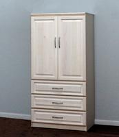 Raised Panel Armoire, w/ Doors & Drawers