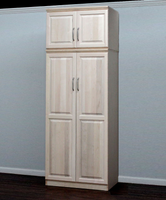 Raised Panel Wardrobe, With Storage Top
