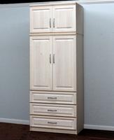 Raised Panel Armoire, w/ Storage Top