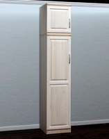 Raised Panel Closet, w/ Storage Top (Opens Right To Left)