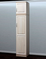 Raised Panel Closet, w/ Storage Top (Opens Left to Right)