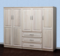 Raised Panel Wall Closet System 3 Piece Set