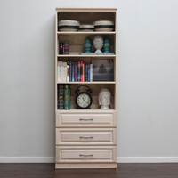 "Raised Panel Wall Unit with 3 Drawers 16"" Deep"