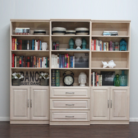 Raised Panel Wall Unit Set with Drawers & Doors