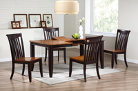 Rectangular Butterfly Leaf Table in a Whiskey / Mocha Finish