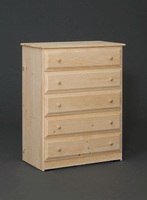 Riverdale Beveled Edge Chest With Five Drawers