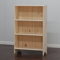 Astoria Plain Wainscoting Bookcase With 2 Fixed Shelves