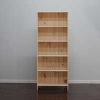 Astoria Plain Wainscoting Bookcase With 4 Fixed Shelves