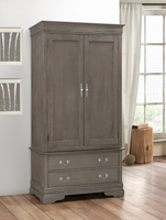 Ashville Armoire In Grey