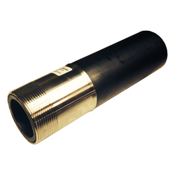 """1-1/2"""" IPS SDR11 Butt Fusion x 1-1/2"""" Male 304 Stainless Steel Threaded Transition MPT"""
