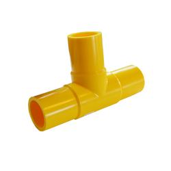 Yellow Gas Butt Fusion Tee MDPE PE2708