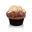 Rich chocolate cake with chocolate buttercream and german chocolate coconut filling