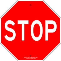"12"" x 12"" Stop Sign Trail Sign"