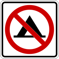 No Tents Icon Sign