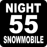 "Night Speed Limit 55 Snowmobile Tail Sign 12"" x 12"""
