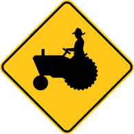 Tractor Crossing Icon Warning Trail Sign