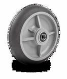 8'' Round Tread Hand Truck Wheel - Offset Hub (300 lbs. Cap)