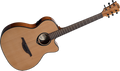 LAG T66ACE Standard Range Auditorium Body Cutaway Acoustic-Electric Guitar